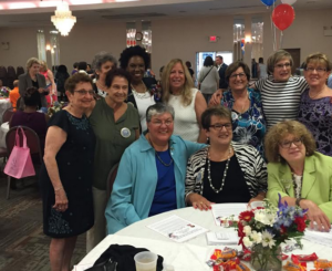 Kathy with Retha Onitiri and members of the Women's Caucus.  Seated in front in blue is Sue Fulton, Monmouth County Freeholder candidate.
